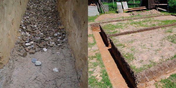песчано гравийный фундамент